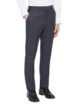Ted Baker Annetot Semi Plain Wool Tailored Suit Trousers, Blue