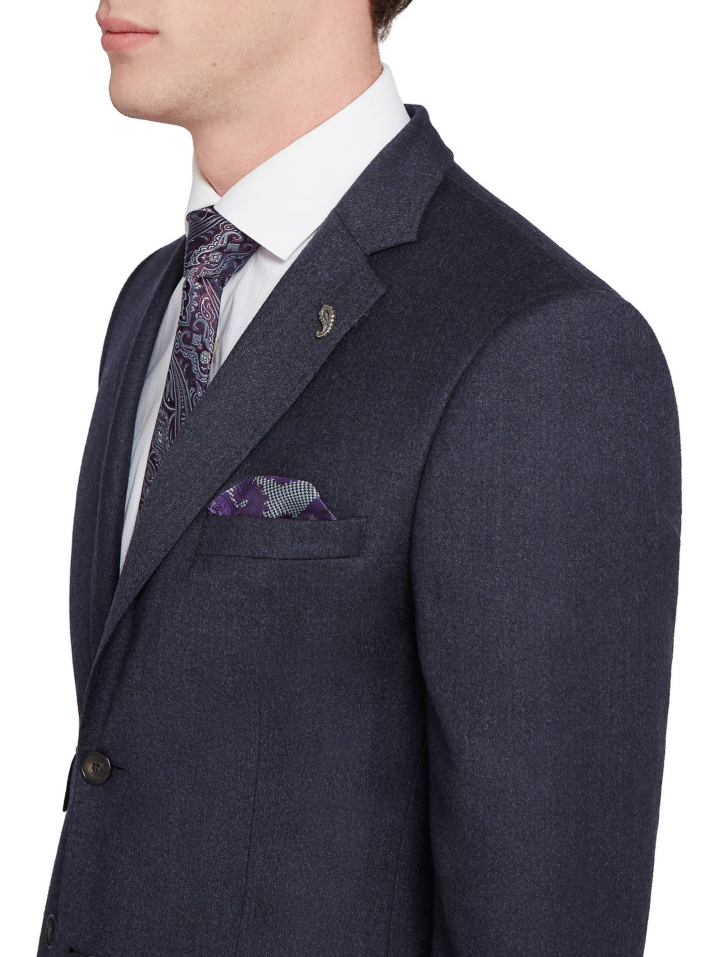 074b1167312a9 ... Buy Ted Baker Caspiaj Sterling Wool Flannel Tailored Suit Jacket