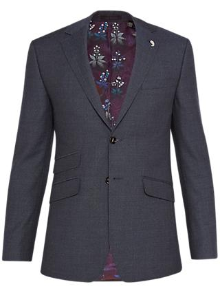 Ted Baker Annetoj Semi Plain Wool Tailored Suit Jacket, Blue