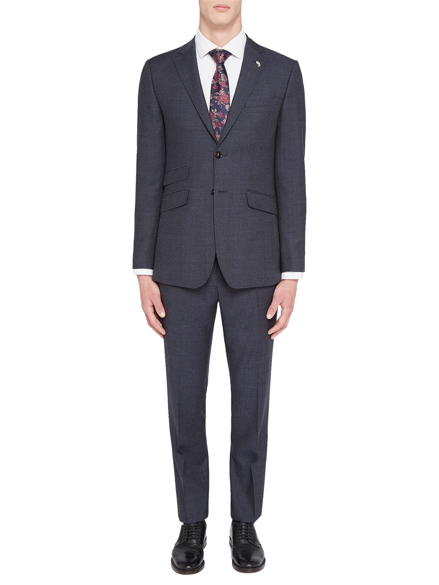 Buy Ted Baker Annetoj Semi Plain Wool Tailored Suit Jacket, Blue, 40R Online at johnlewis.com