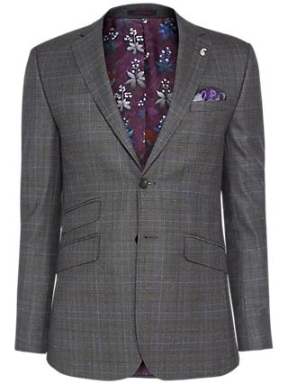 Ted Baker Doverrj Sterling Check Tailored Suit Jacket, Charcoal
