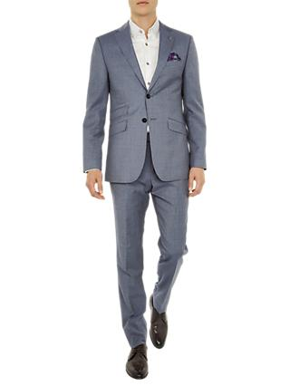 Ted Baker Tenetoj Sterling Plain Wool Tailored Suit Jacket, Light Blue
