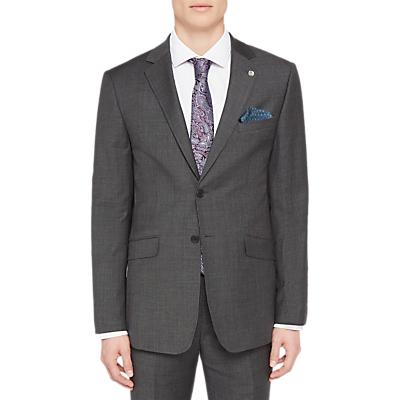 Ted Baker Ursusj Micro Weave Tailored Suit Jacket, Grey