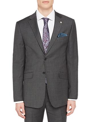 Ted Baker Ursusj Micro Weave Tailored Suit Jacket, Grey