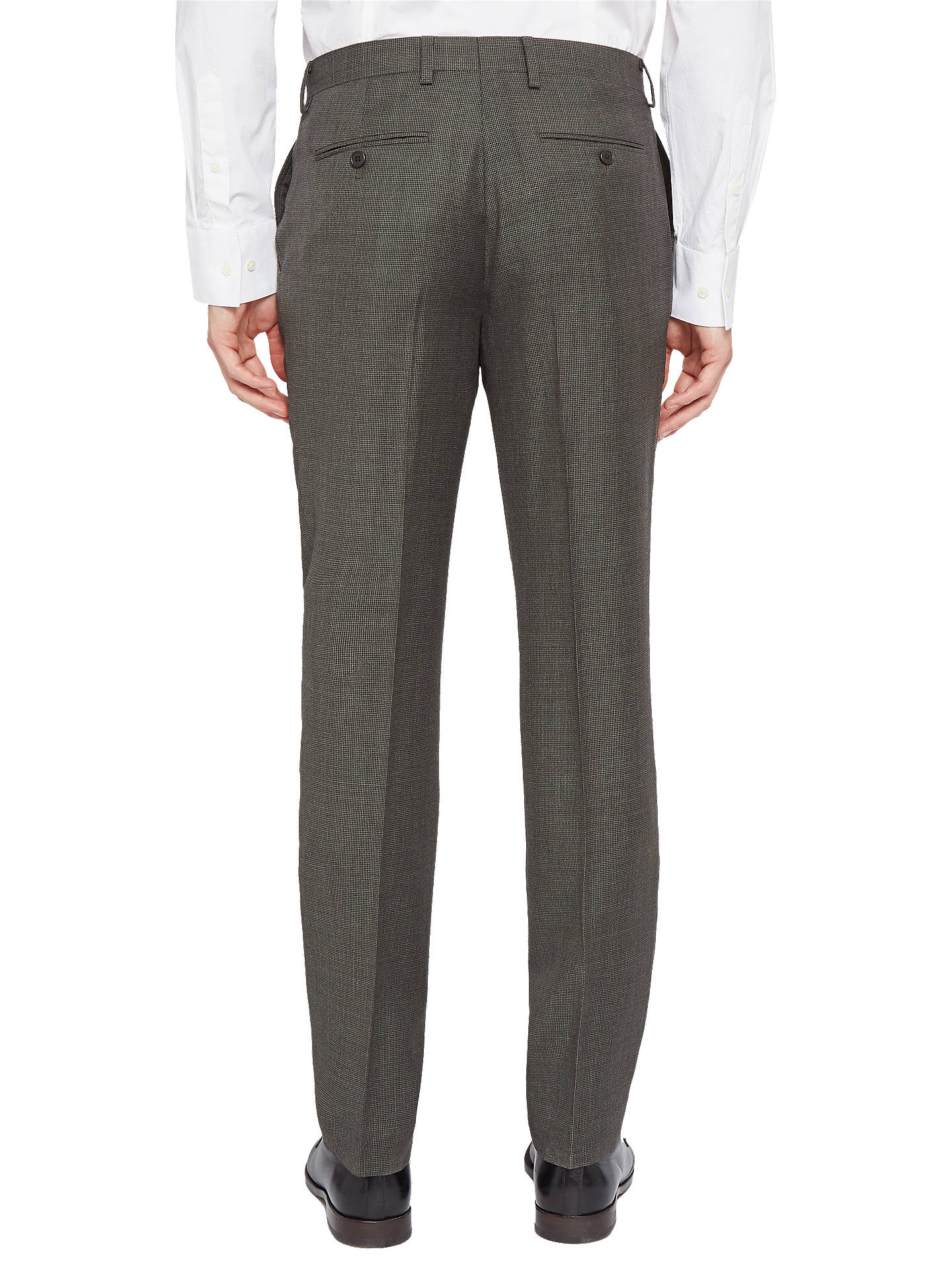 BuyTed Baker Ursusj Micro Weave Tailored Suit Trousers, Grey, 40R Online at johnlewis.com
