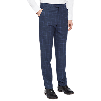 Ted Baker Stefant Check Tailored Suit Trousers, Navy