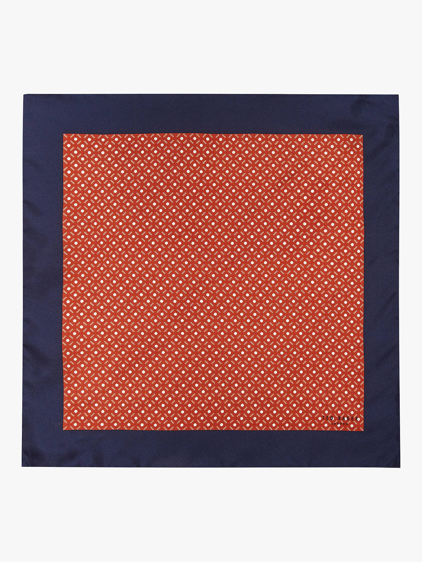 Buy Ted Baker Liphook Pocket Square, Dark Orange Online at johnlewis.com