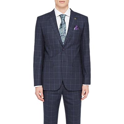 Ted Baker Stefanj Check Tailored Suit Jacket, Navy