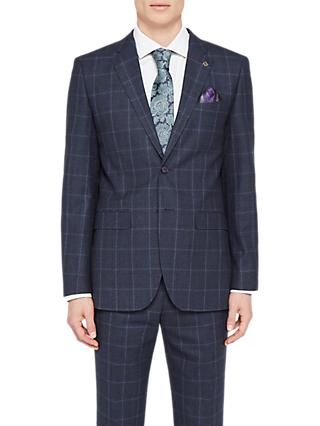 Ted Baker Stefanj Check Tailored Suit Jacket, Navy