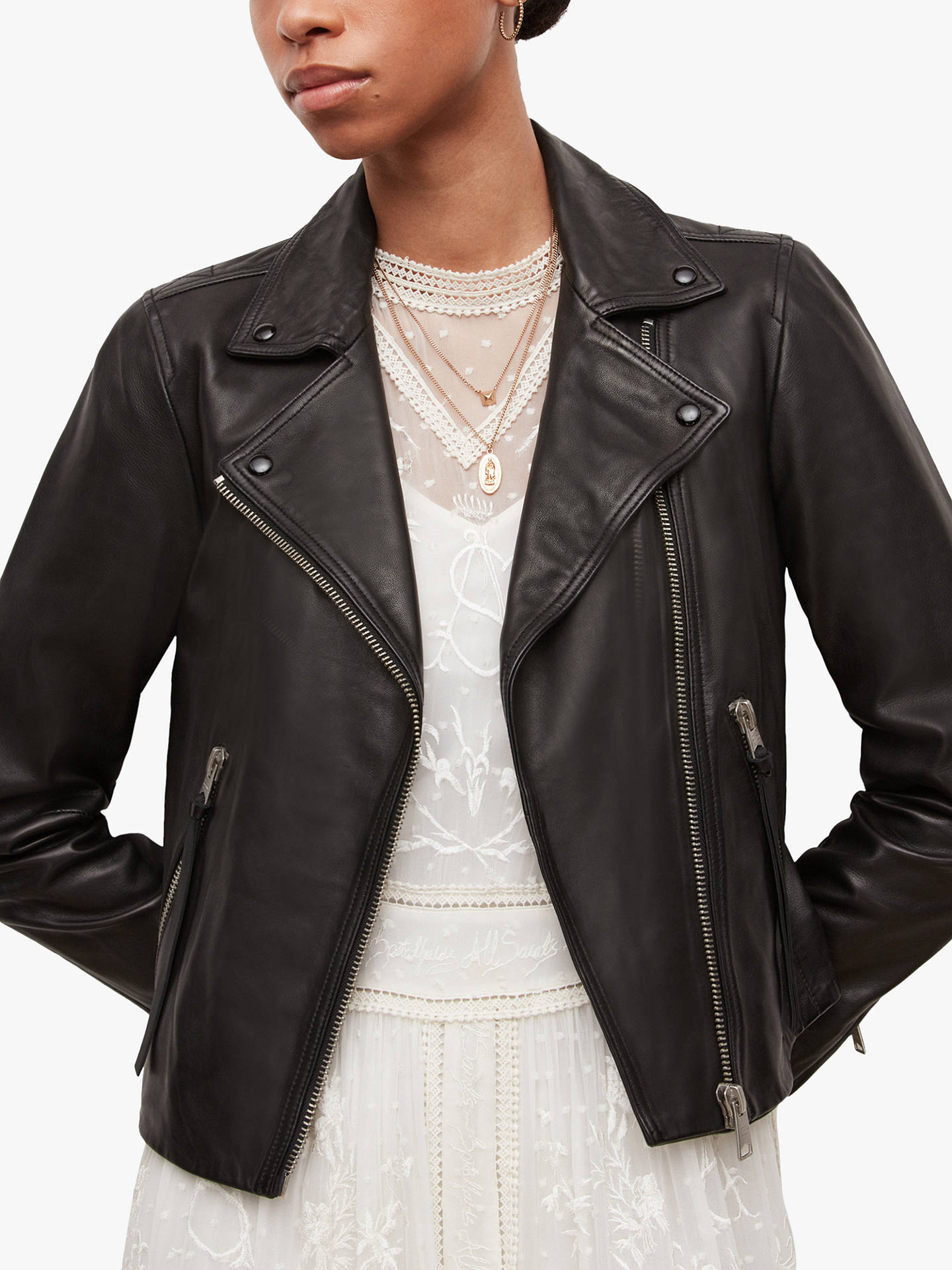 2db281708 AllSaints Dalby Leather Biker Jacket, Black