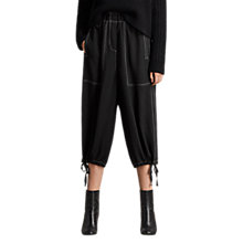 Buy AllSaints Mercer Trousers, Black Online at johnlewis.com
