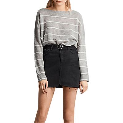 AllSaints Bette Buckle Skirt, Black