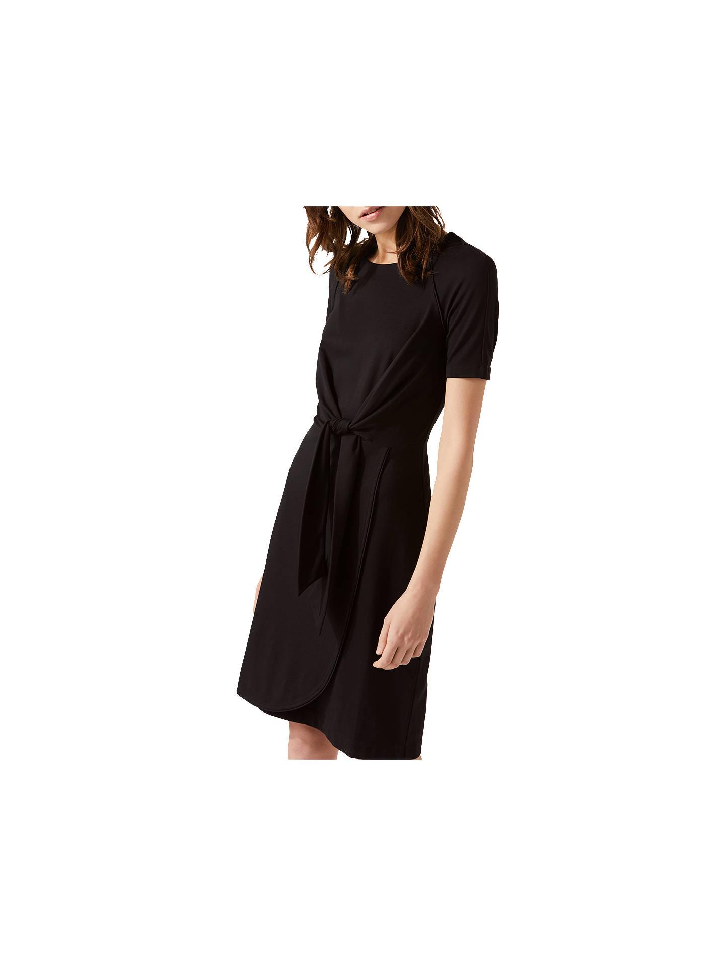 c1a05ee81b9 Buy Jigsaw Knot Waist Jersey Dress, Black, XS Online at johnlewis.com ...