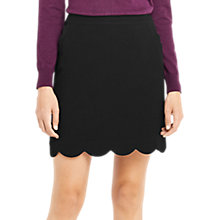 Buy Oasis Scallop Skirt, Black Online at johnlewis.com