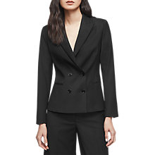Buy Reiss Huxley Cropped Jacket, Black Online at johnlewis.com