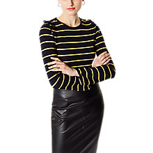 Buy Karen Millen Striped Jersey Top, Multi Online at johnlewis.com