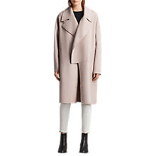 Buy AllSaints Ryder Coat, Dusty Pink Online at johnlewis.com