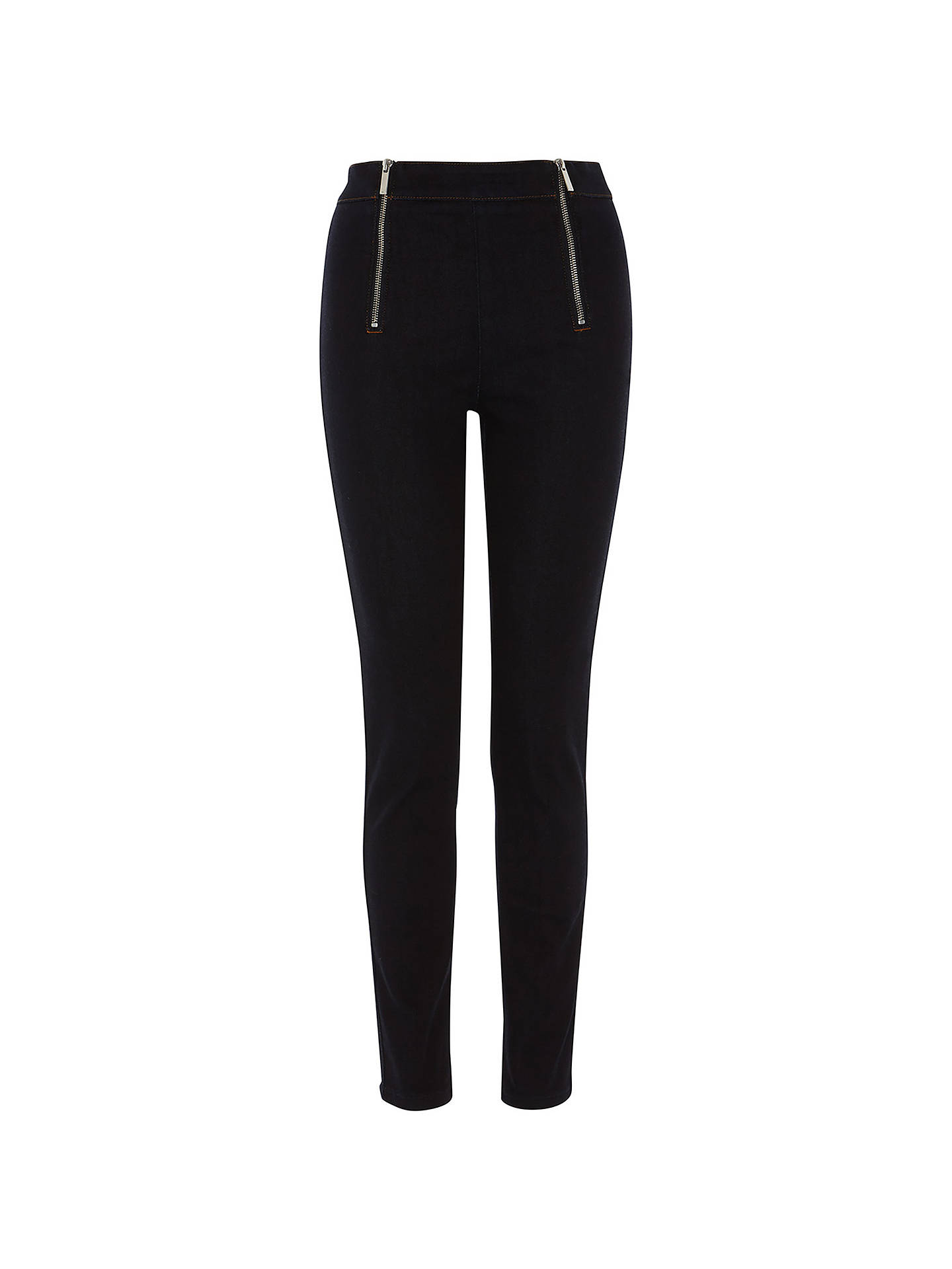 BuyKaren Millen Zip Denim Leggings, Dark Denim, 8 Online at johnlewis.com