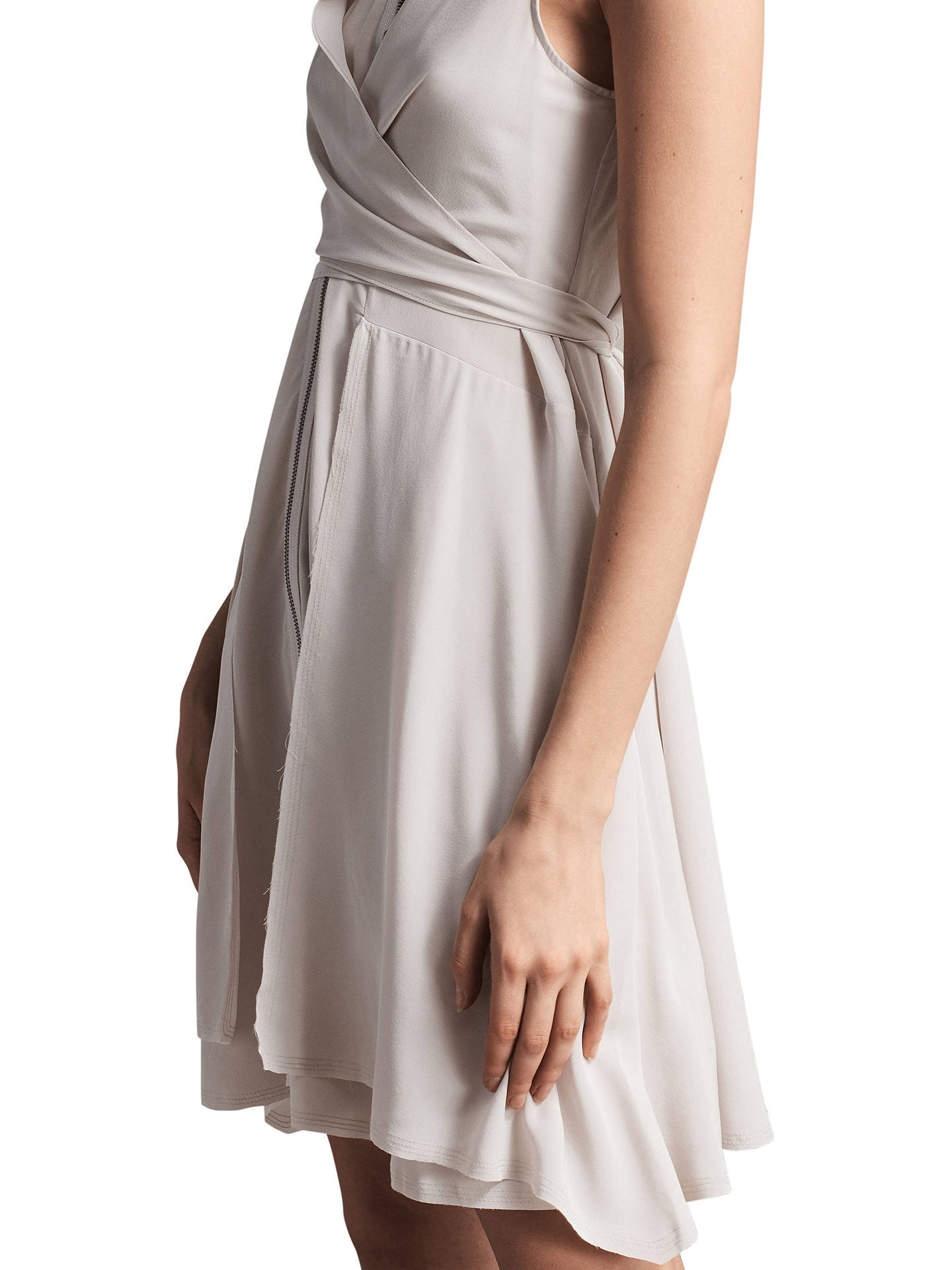 Buy AllSaints Jayda Dress, Champagne Pink, XS Online at johnlewis.com