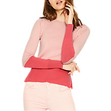 Buy Oasis Colour Block Jumper, Pink Online at johnlewis.com