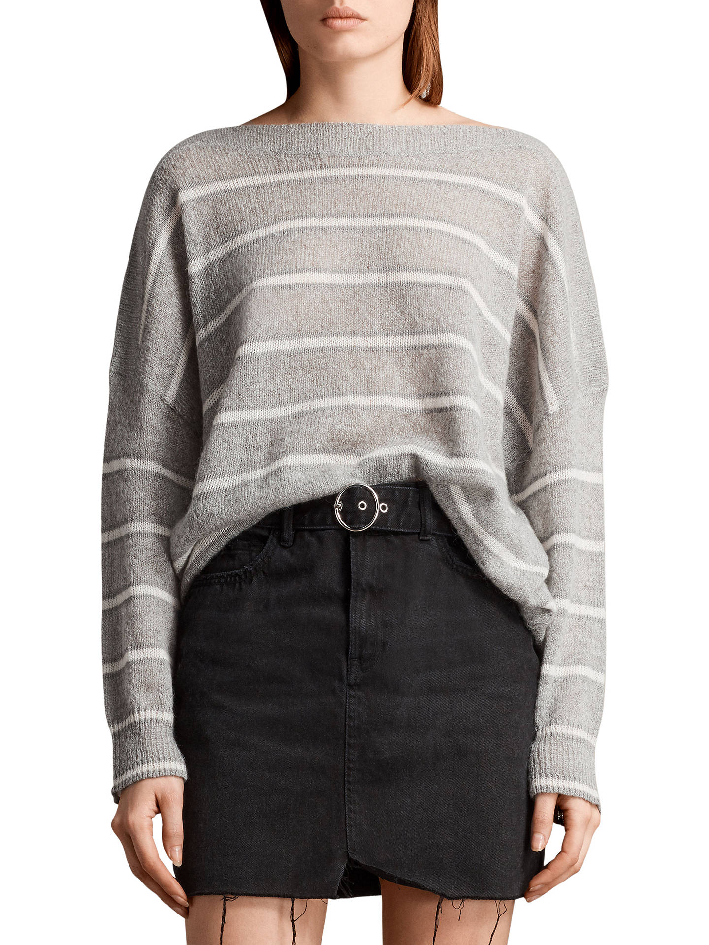 1c9452808 AllSaints Misty Striped Jumper at John Lewis   Partners