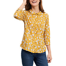 Buy White Stuff Tea Time Spot Jersey Shirt, Yellow Online at johnlewis.com