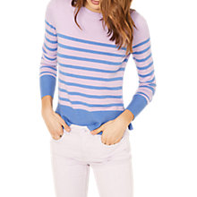 Buy Oasis Coloured Stripe Jumper, Multi/Purple Online at johnlewis.com