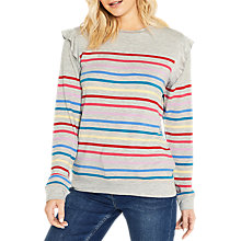 Buy Oasis Rainbow Ruffle Jumper, Multi Online at johnlewis.com