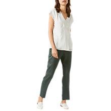 Buy Jigsaw Silk Mix V-Neck Top Online at johnlewis.com