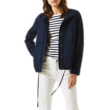 Buy Jigsaw Linen Mix Military Jacket, Navy Online at johnlewis.com