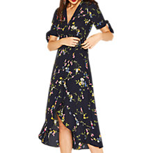 Buy Oasis Bouquet Bird Midi Dress, Multi/Blue Online at johnlewis.com