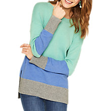 Buy Oasis Long Colour Block Jumper, Multi Online at johnlewis.com