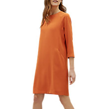 Buy Jaeger Pocket Detail Crepe Dress, Orange Online at johnlewis.com