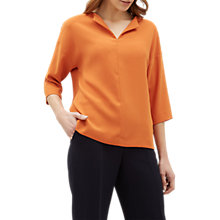 Buy Jaeger Boxy Crepe Top, Orange Online at johnlewis.com