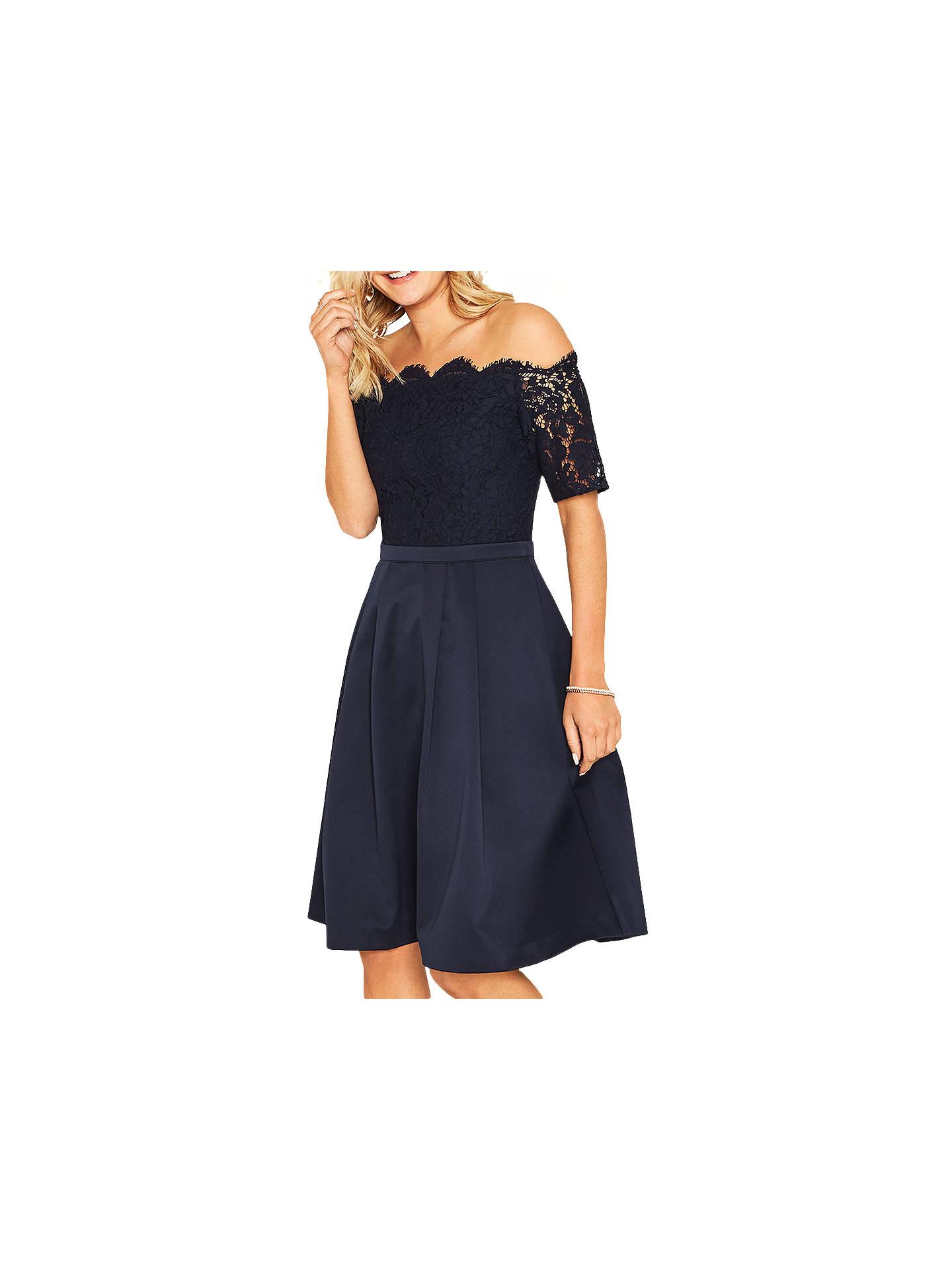72e3fa7b8bd BuyOasis Lace Top Bardot 2 in 1 Skater Dress