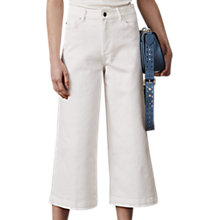Buy Whistles Leo Wide Leg Jeans, Off White Online at johnlewis.com
