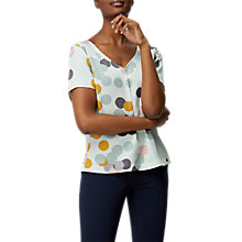 Buy White Stuff Karin Spot Top, Ice Blue/Multi Online at johnlewis.com