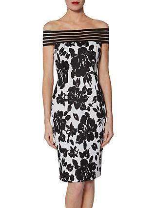 Gina Bacconi Jojo Dress, Black/White