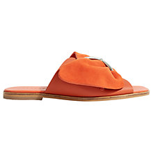 Buy Jigsaw Sete Buckle Sandals, Orange Leather Online at johnlewis.com
