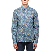 Buy Pretty Green Portside Paisley Shirt, Blue Online at johnlewis.com