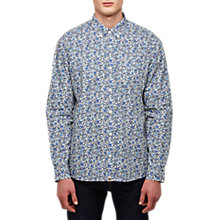 Buy Pretty Green Long Sleeve Floral Liberty Shirt, Blue Online at johnlewis.com
