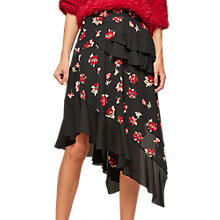Buy Miss Selfridge Floral Hanky Hem Skirt, Multi Online at johnlewis.com
