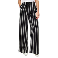 Buy Miss Selfridge Striped High Waisted Trousers, Black/White Online at johnlewis.com