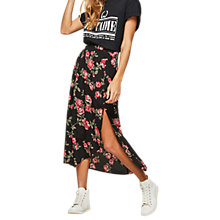 Buy Miss Selfridge Arabella Midi Skirt, Black Online at johnlewis.com