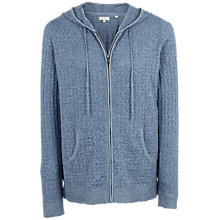 Buy Fat Face Beth Textured Hoodie, Surf Blue Online at johnlewis.com