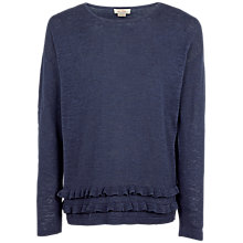 Buy Fat Face Georgie Ruffle Hem Jumper Online at johnlewis.com