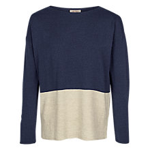 Buy Fat Face Isabel Colour Block Jumper, Navy Online at johnlewis.com