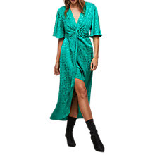 Buy Miss Selfridge Jacquard Midi Dress, Fluorescent Green Online at johnlewis.com