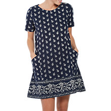 Buy Fat Face Simone Woodblock Paisley Dress, Navy Online at johnlewis.com
