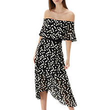 Buy Coast Ada Bardot Midi Dress, Black/White Online at johnlewis.com